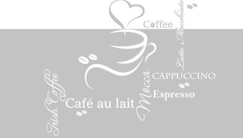 00x57 Fensterfolie Glasdekor Aufkleber Sichtschutz Küche Kaffee Tasse (Milchglas-tassen)