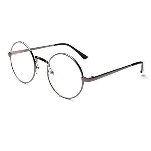 HYUHYU Hohe Qualität Vintage Sunglass Mode Unisex Klassische Metallrahmen Spiegel Abgerundete Gläser Retro Sonnenbrille