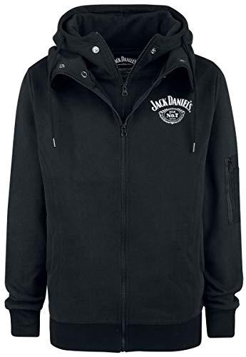 Jack Daniels Hoodies (Jack Daniel's Double Hoodie Kapuzenjacke schwarz L)