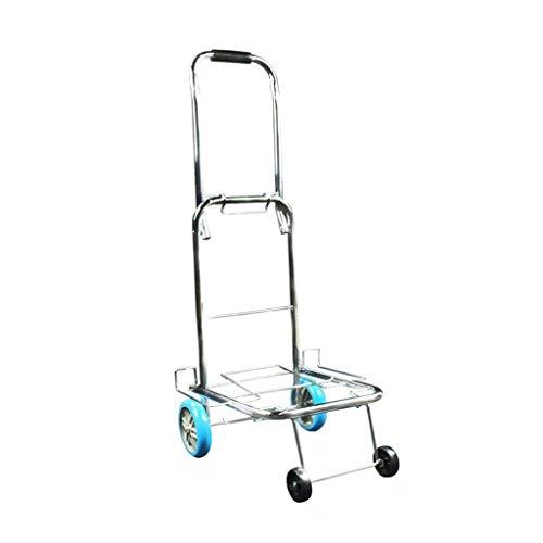 faltender Wagen/tragbarer Gepäck-Wagen/vier Runden/warm gewalzter Stahl/PU-Rad/Laufkatzen-Wagen/Einkaufswagen für die älteren Personen/Last 25 Kilogramm (Hand-lkw-erweiterung)