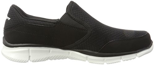 Skechers Equalizer-Persistent, Chaussures de Tennis Homme Noir (Black/white)