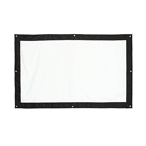 Zerone Projektion Bildschirm 16: 9HD zusammenklappbar anti-crease tragbar Projektor Filme Display für Home Theater Outdoor Indoor doppelseitig 150inch