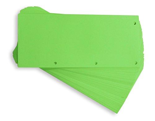 Elba 400014012 Trennstreifen Duo, neutral, 240 x 105 mm, 160 g/m² Karton, 60 Trennblätter, grün