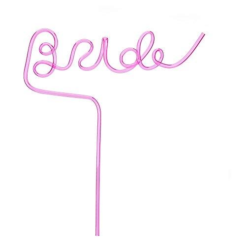 Howaf junggesellinnenabschied Accessoires Frau große rosa Braut strohhalm Plastik trinkhalme wiederverwendbar JGA Accessoires für Braut, Hochzeit, JGA Deko