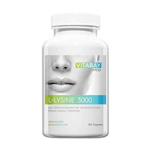 L-Lysine 3000-100 Kapseln - zum Diätmanagement bei wiederkehrenden Herpes simplex Infektionen