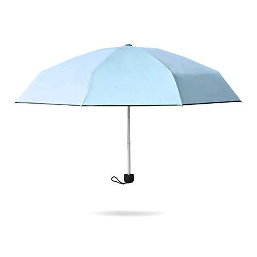 JUNDY Regenschirm Taschenschirm Automatik Reise für Damen und Herren windsicher Wasserdicht Schirm Schwarzer Kunststoff fünffach Sonnenschirm Schirmfarbe2 93cm