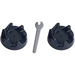 KitchenAid 9704230 Lot de 2 raccords de vitesses en caoutchouc noir et 1 outil de serrage pour retirer la broche