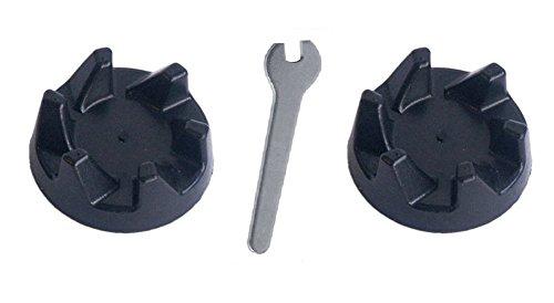 2 x KitchenAid Blender schwarzem Gummi Kupplung Getriebe 9704230 + 1 x Spindel Spanner-Tool zum Entfernen