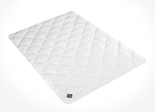 Sei Design® warme Ganzjahres-Bettdecke Classic Dream Mikrofaser 135 x 200 , weiß, gestept, schadstoffgeprüft nach Öko-Tex Standard 100