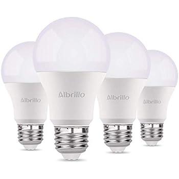 Albrillo Bombillas LED A60, Casquillo E27, 9W equivalente a 60W, 3000K Color blanco