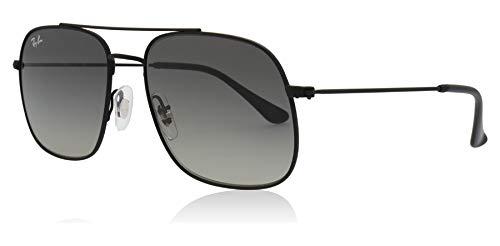 Ray-Ban Unisex-Erwachsene 0RB3595 Sonnenbrille, Gold (Rubber Black), 56.0