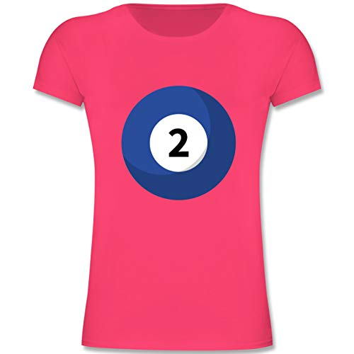 Karneval & Fasching Kinder - Billard Kugel 2 Kostüm - 164 (14-15 Jahre) - Fuchsia - F131K - Mädchen Kinder T-Shirt (Freunde Für Ideen Zwei Kostüm Beste)