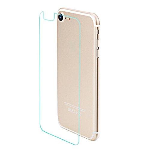Koly A prueba de explosiones 9H vidrio templado Film protector de espalda para el iPhone 7 4,7 pulgadas,Claro
