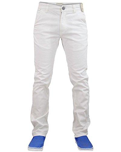 Nouveau Jack Designer Mens Sud Stretch Slim fit Chino Straight Leg pantalons Jeans/Pantalons Bright White