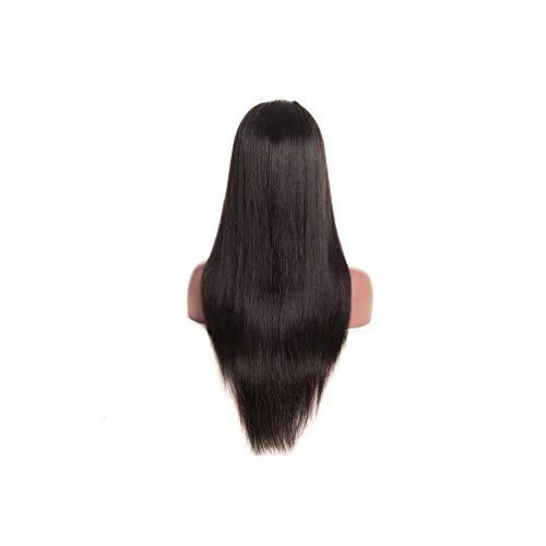 Kostüm Frauen Kolonial - Lace Frontal Perücke Farbe 150 Dichte gerade Spitze Frontal Menschenhaar-Perücken Non-Spitze-Perücke,# 1B,10inches,250 Dichte