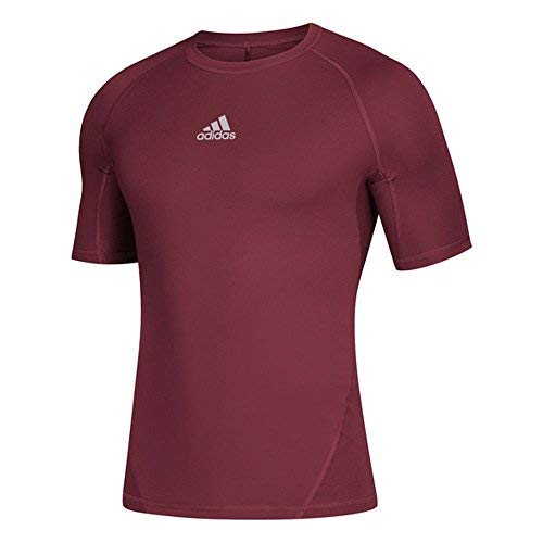 adidas AlphaSkin Short Sleeve Top - Men's Training 4XL Collegiate Burgundy -