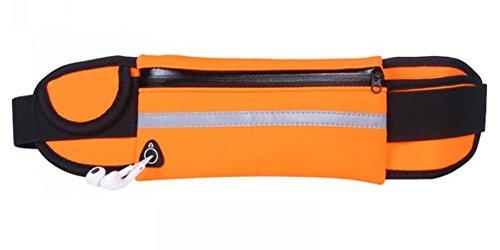 lifenewbaby Running cinturón resistente al agua Waistpack Fanny Pack bolsa de cinturón teléfono bolsa para gimnasio deportes al aire libre, naranja