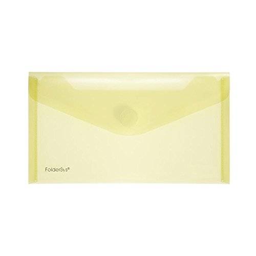 Preisvergleich Produktbild PP-Umschlag LangDIN, transparent gelb, 10 Stück