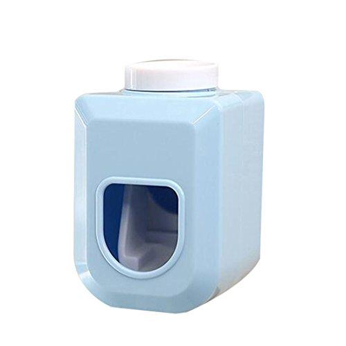Wandhalterung Zahnpasta Tube Ausdrücker von GOOTRADES, Tubenquetscher, Bad Haken (Blau) - Medium Saugnapf Haken