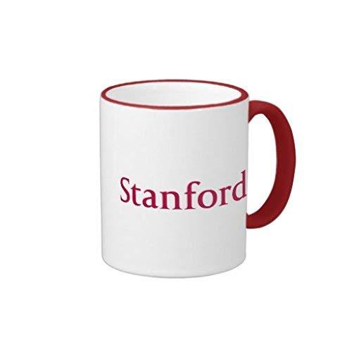Stanford Ringer Mug Unique Husband Gifts Christmas Presents for Him Mug Gift for Brother Birthday Gifts Inspirational Mug for Mom Dad Awesome Coffee Mug Both Sides 11 OZ -