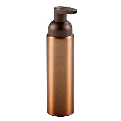 InterDesign Metro Soap Pump Bottle, Aluminium Soap Dispenser with Pump Head, Bronze