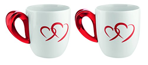 Guzzini 26790065 Set 2 Mug, Modello Love