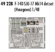 Eduard Accessories 4922830502000F Catapulta de Caza F-14D Tomcat Asiento para Hasegawa Montar