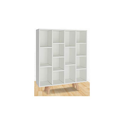 HYwot Nordic Bücherregal, Floor Simple Modern Storage Lagerregal, Student Simple Multi-Layer Free Combination Bookcase,White -