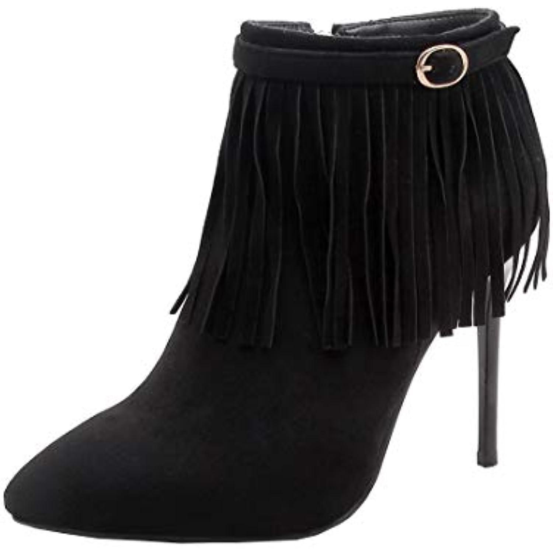 YE Bottine Frange Femme Bointu Hiver Sexy Bottes Courtes Courtes Courtes Chaude à Talon Haut Aiguille Chaussures Ankle Boots Winter... - B07GS3BX5W - cb4843