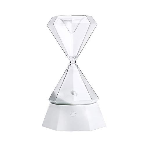 ZYJ Bunte Nachtlicht-Diamante-Hackglas mit Sleep Light USB Charging Hourglass Timer Ornaments Home Dekorationen Bedside Lampe -