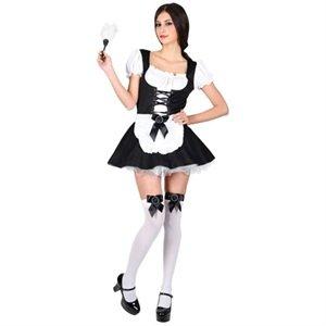 Neu Dienstmädchen Rollenspiel Verkleidungsparty Karneval Halloween Kostüm XS (Halloween Kostüme Sf)