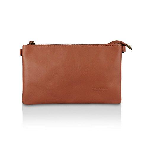 e39007fe656b1 Glamexx24 Damen Clutch echt Leder Tasche Abendtasche Leder Handtasche  Umhängetasche Made in Italy 1.009.1 ...