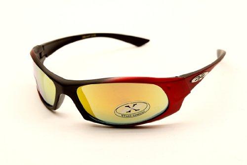 Full 90 Kinder Kinder xloop Sport-Sonnenbrille X2138 (Rot, Revo-Mirrored) 1 55mm gespiegelt Mittel xloop Red