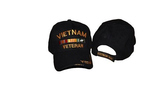 Black World War II 2 Veteran Embroidered Military Baseball Hat Cap by RFCO