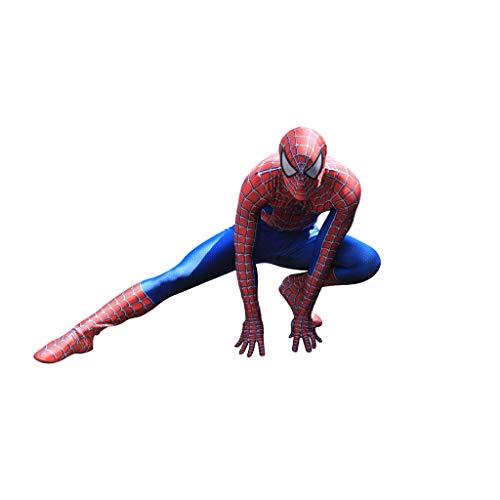 stüm 3D Printed Adult Lycra Spandex Spider-Man Kostüm Für Halloween Maskottchen Cosplay ()