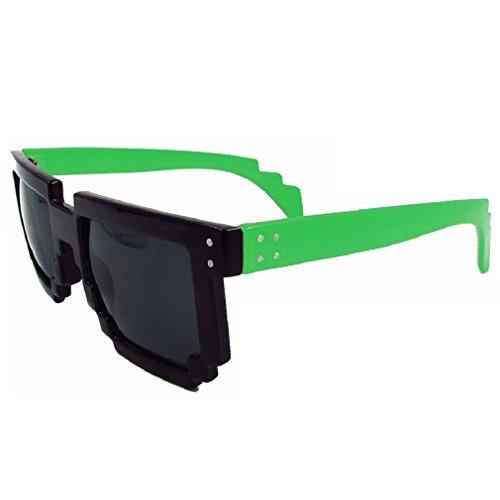 Geek Invader Pixelbrille - 8-Bit Schwarz-Grün
