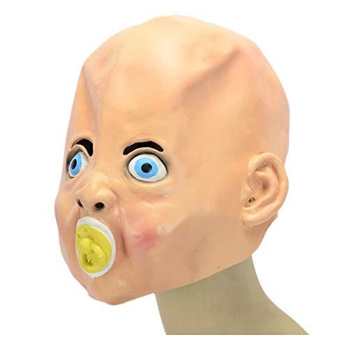 WHLMJ Latex Maske Halloween Kostüm Ball Nachtgeschäft Baby Gesicht Maske (Baby-halloween-kostüm Alte Frau)
