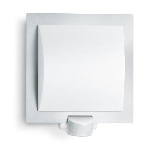 Steinel luminaire extérieur L 20 argent, applique à détecteur 180°, portée max. 10 m, résistant aux chocs, E27, 60W max.