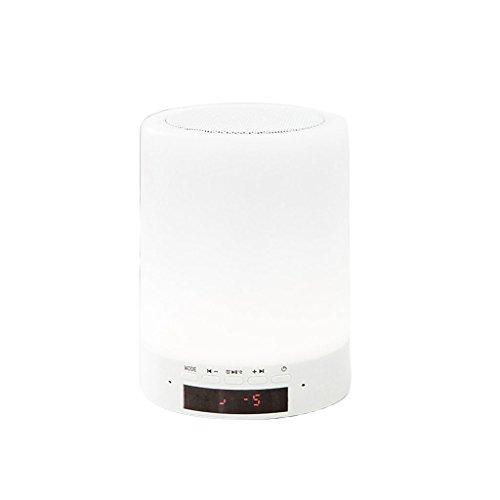 TPYS Kreative Bluetooth Stereo Nachtlicht Musik romantische Traum drahtlose Schreibtischlampe Schlafzimmer Nacht Nachtlicht Schlaf Plug-in (9,6 * 12,7 cm) (Farbe : Weiß)