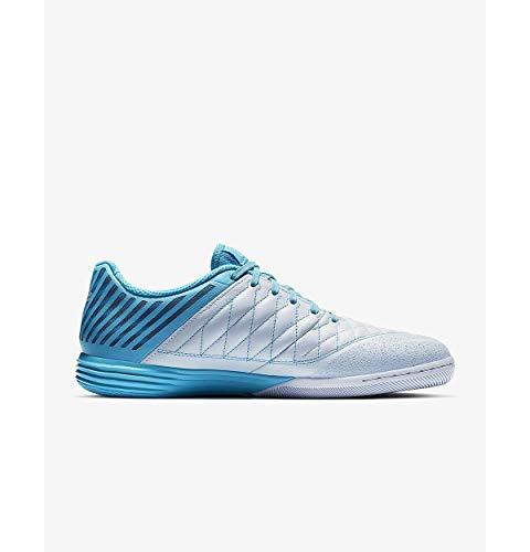 Nike Lunargato II, Scarpe da Calcetto Indoor Uomo, Multicolore (Half Metallic Silver/Blue Fury 000), 43 EU
