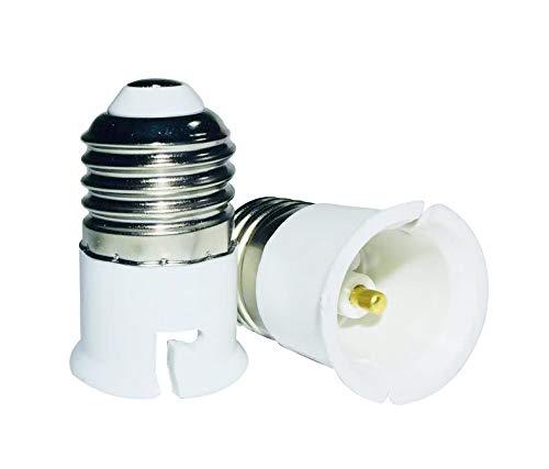 certifi/és CE Luminosa Lot de 2 adaptateurs de culot dampoule E14 vers GU10 classe /énerg/étique A+ Compatibles LED Douille /à vis Edison vers douille GU10