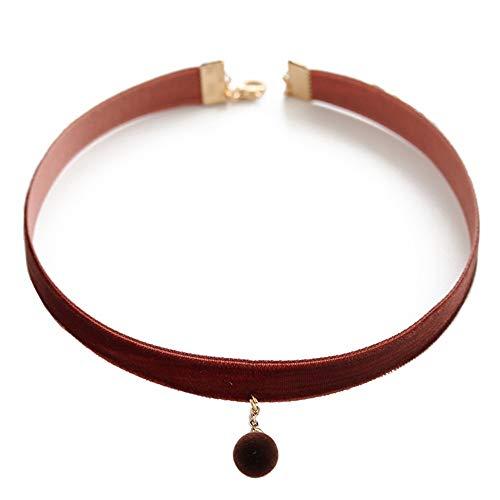 CLY necklace Halskette Samtperle Kurze Schlüsselbeinkette Einfacher Vielseitiger Schmuckhalsband