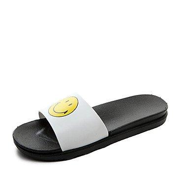 Slippers & amp da uomo;Sandali estate luce Suole PU casual Fiore Arcobaleno Nero Bianco sandali US9.5 / EU42 / UK8.5 / CN43