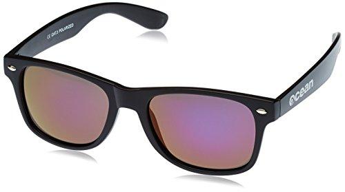 Ocean Sunglasses Jeri - lunettes de soleil polarisées - Monture : Noir/Blanc/Rouge - Verres : Fumée (19100.2) 4bnt9C