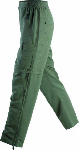 James & Nicholson Herren Sporthose Hose Men's Zip-Off Pants grün (dusty-olive) XXX-Large -
