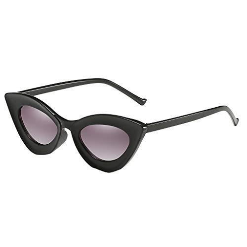 Lazzboy Mann Frauen Cat Eye Sonnenbrille Brille Shades Vintage Retro Style Brillenfassungen Damen Kunststoff Brillen, Sonnenbrillen & Zubehör Amerika Punk Wild Persönlichkeit(Grau)
