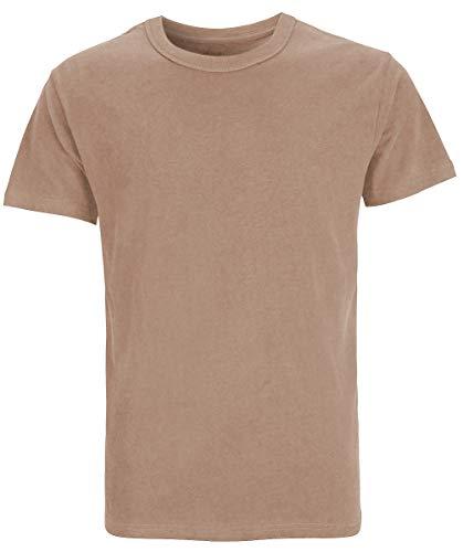 d24d6a323b28 COSAVOROCK Men's Heavyweight Cotton 6.4-8.7 Ounce Solid T-Shirts (L, Camel