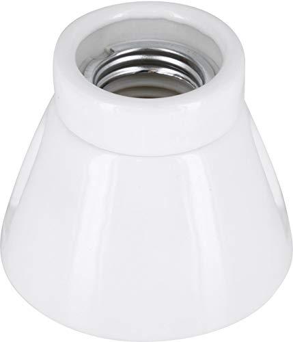 Premium Aufbauleuchte E27 230V Porzellan Keramik - High Frequency - max. 1000W - Glasur weiß -