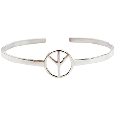 925 ajustable paz marca Pulsera hf,paz pulsera, paz marca pulsera, paz símbolo pulsera, circulo pulsera, forma pulsera, diariamente pulsera, unisexo pulsera, brazalete, brazalete p