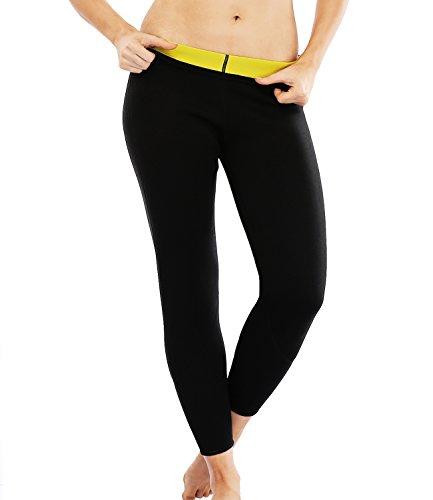 SEXYWG Damen Ankle-Länge Abnehmen Lange Hosen Neopren Sweat Sauna Körper Shapers (Spandex Shaper Leggings)